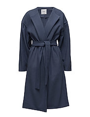 Puffed sleeves coat - MEDIUM BLUE
