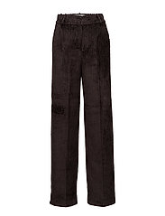 Velvet corduroy trousers - DARK BROWN