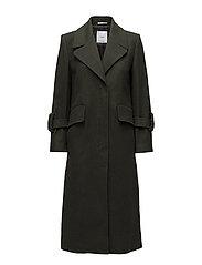 Oversize wool coat - BEIGE - KHAKI