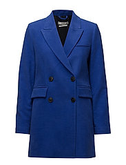 Double-breasted coat - BRIGHT BLUE