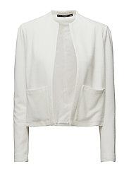 Padded shoulder jacket - WHITE