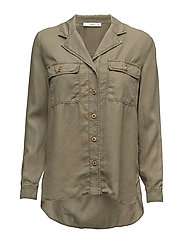 Chest-pocket soft shirt - BEIGE - KHAKI