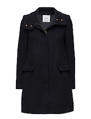 Ring wool coat - NAVY