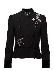 Military-style jacket - BLACK