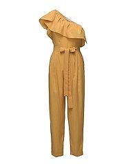 Bow ruffled jumpsuit - MEDIUM YELLOW