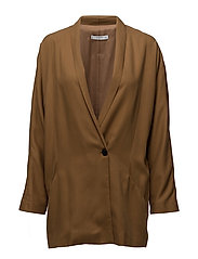 Oversize blazer - DARK BROWN