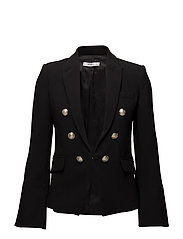 Flared sleeve blazer - BLACK