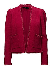 Puffed sleeves jacket - MEDIUM RED
