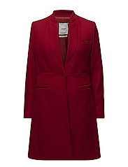 Pocketed wool coat - RED