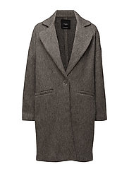 Unstructured mohair-blend coat