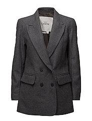 Flecked wool-blend blazer - DARK GREY