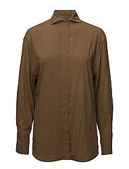 Oversize modal shirt - RUST - COPPER