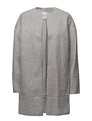 Wool-blend classic coat - LT PASTEL GREY