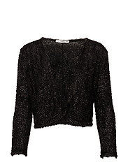 Textured jacket - BLACK