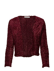 Textured jacket - DARK RED