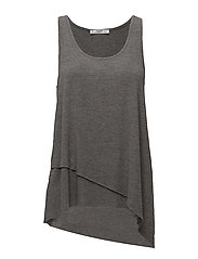 Asymmetric hem t-shirt - MEDIUM GREY