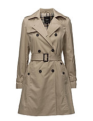 Double breasted trench - LIGHT BEIGE