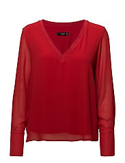 Double-layer blouse - RED