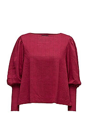 Puffed sleeves sweater - RED