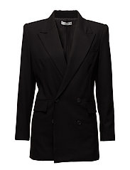 Double-breasted structured blazer - BLACK