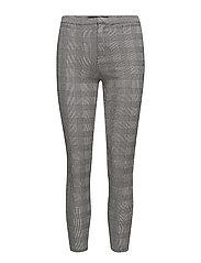 Check pattern leggings - MEDIUM GREY