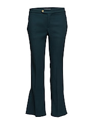 Contrast trim trousers - GREEN
