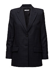 Check Structured blazer - NAVY