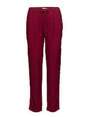 Drawstring flowy trousers - DARK RED