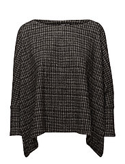 Square textured sweater - MEDIUM GREY
