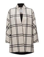 Check coat - WHITE