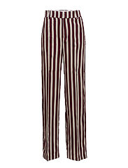 Striped palazzo trousers - DARK RED