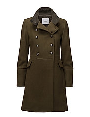 Double-breasted wool coat - BEIGE - KHAKI