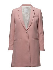 Lapels structured coat - PINK