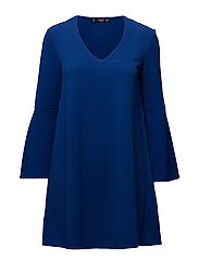 Flared sleeves dress - MEDIUM BLUE