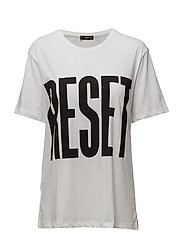 Message cotton t-shirt - NATURAL WHITE