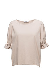 Ruched detail t-shirt - NATURAL WHITE