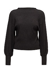Puffed sleeves sweater - DARK GREY