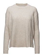 Ribbed panels sweater - LT PASTEL GREY