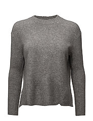 Ribbed panels sweater - MEDIUM GREY