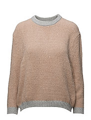 Metallic finish sweater - PINK