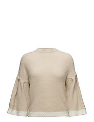 Flared sleeves sweater - LT PASTEL GREY