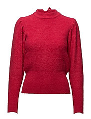 Back vent sweater - BRIGHT PINK