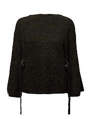 Metallic thread textured sweater - DARK GREEN