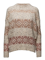Geometric jacquard sweater - LT PASTEL GREY