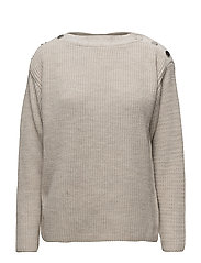 Side snap sweater - LT PASTEL GREY