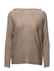 Bow wrapped sweater - MEDIUM BROWN