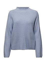 Neck detail sweater - LT-PASTEL BLUE
