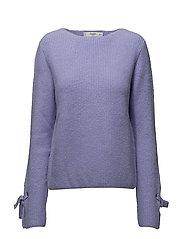 Bow textured sweater - LT-PASTEL PURPLE