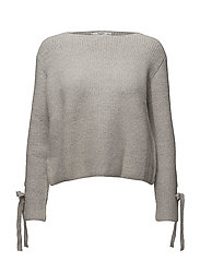 Bow textured sweater - MEDIUM GREY