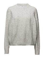Ribbed detail sweater - MEDIUM GREY